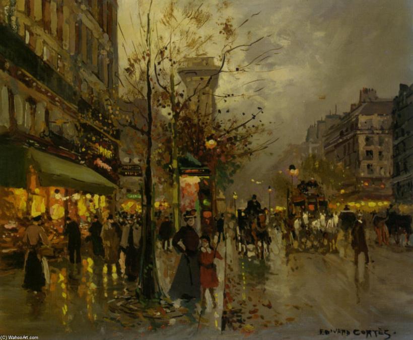 Edouard-Cortes-Boulevard-a-Paris